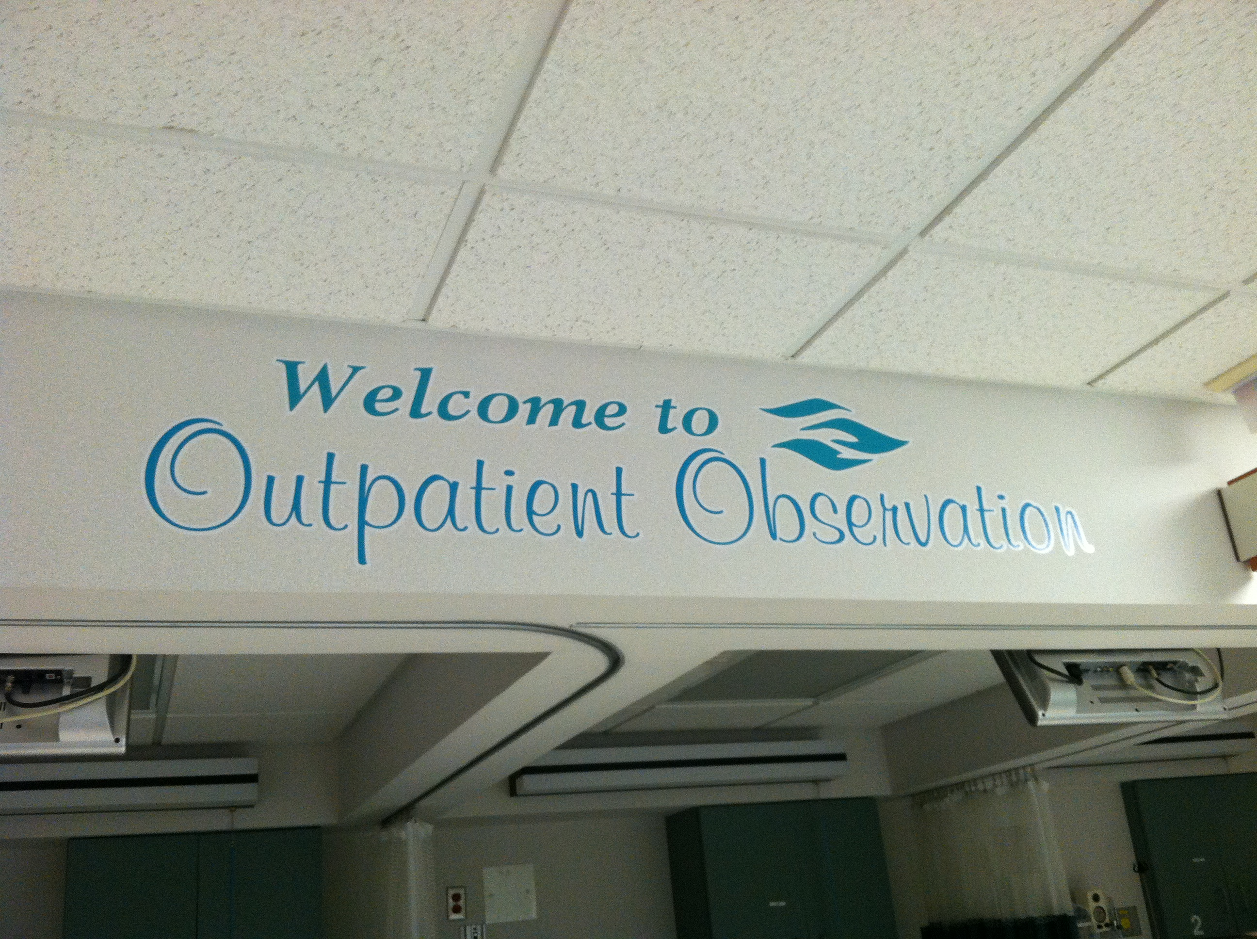 Observation Unit Signage at Riverside Medical Center, Kankakee, IL